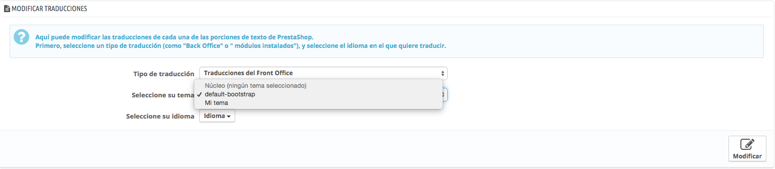 traducciones de los emails en Prestashop