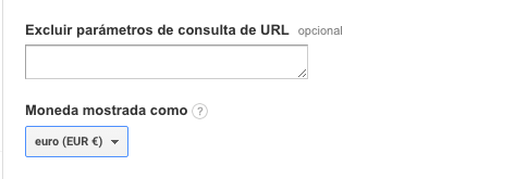 Google Analitycs-PrestaShop moneda